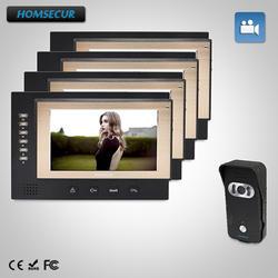 """HOMSECUR 7 """"Проводной Видео и Аудио Домашний Интерком Электрический Замок Поддерживается: TC021-B + TM701R-B"""
