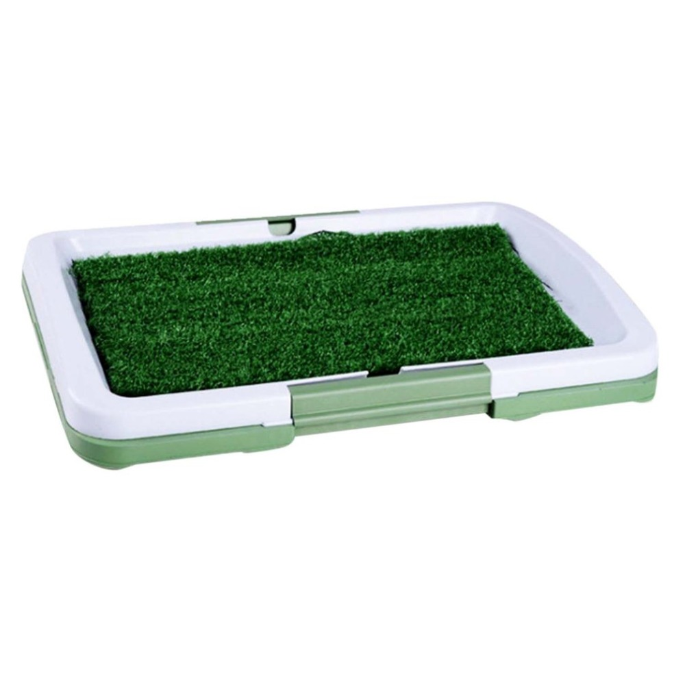 3 Layers Large Dog Pet Potty Training Pee Pad Mat Puppy Tray Grass Toilet Simulation Lawn For Indoor Potty Training poop scoop