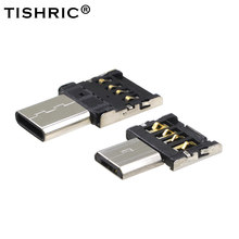 TISHRIC 10pcs OTG Micro USB Type c USB-C Type-c Adapter DATA Cable Converter For Xiaomi Huawei Samsung Mouse usb Flash Drive(China)