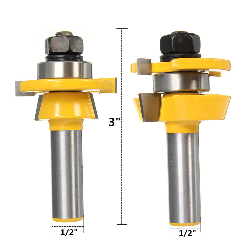 2pcs/set Rail & Stile Raised Panel Router Bits 1/2 Shank Router Bits For Woodworking Cutter 2pcs high quality 1 2 inch shank rail