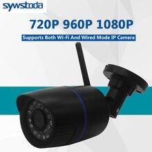 CamHi caméra de surveillance Bullet extérieure IP Wifi 1080P 960P 720P, protocole ONVIF P2P sans fil, avec fente pour carte MiscroSD 128G Max