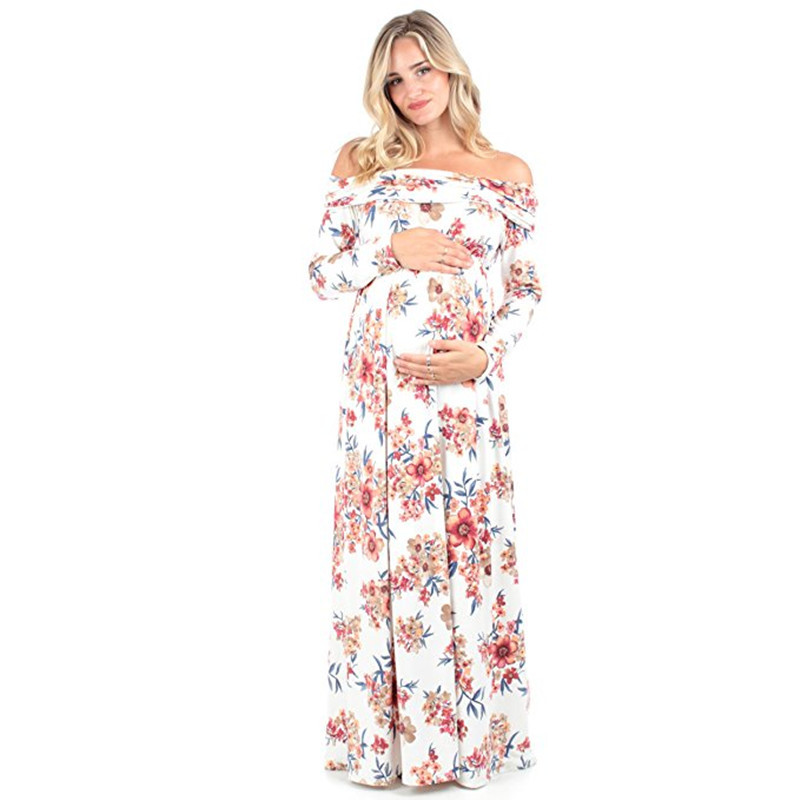 15bf9d630629e US $16.66 31% OFF|babzapleume 2018 Summer Maternity Dresses Evening  Pregnancy Photography Plus Size Long Dress For Pregnant Women Clothes  BC1431 1-in ...