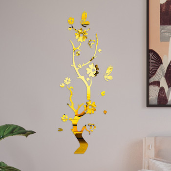 3D Wall Sticker Modern Lotus Non-toxic removable Flower Acrylic Mirror DIY Art Wall Sticker Mural Decal Creative Home Decor 9