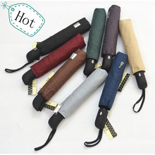 Three-folding fully-automatic Umbrella/High quality/8 colours for choose/amphibious for women and men/sun block/UV protection