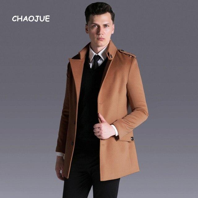 Chaojue Brand Male Single Breasted Wool Coat 2018 Autumn Winter
