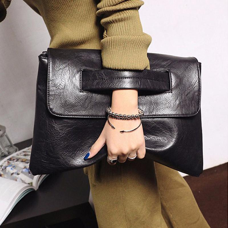 Vintage Soft Leather Shoulder Bag Female Small Handbags Bags For Women  Postman Package Crossbody Bag Black Hand Bags Tote 034113696a23e