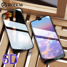 TOMKAS Glass on For Huawei P20 Lite Glass Tempered 6D Screen Protector For Huawei Honor 9 Lite 8X 7C Huawei P20 Pro Mate 20 Lite(China)