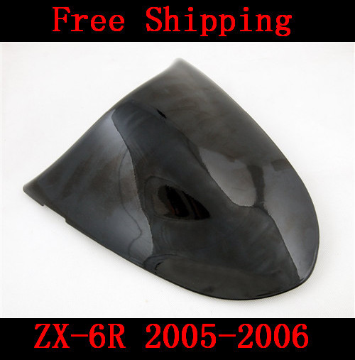 For Kawasaki ZX6R ZX 6R 2005-2006 motorbike seat cover Brand New Motorcycle Black fairing rear sear cowl cover Free Shipping H44 for suzuki gsxr 600 gsx r 750 2004 2005 k4 motorbike seat cover brand new motorcycle carbon fairing rear sear cowl cover