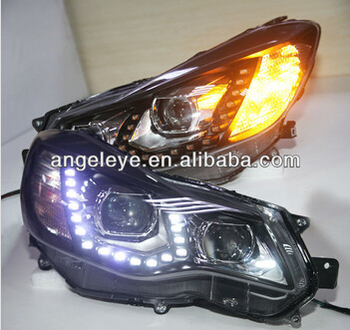 For Subaru XV LED Head Lamps with Projector Lens 2012-2014 Year Black Housing PW