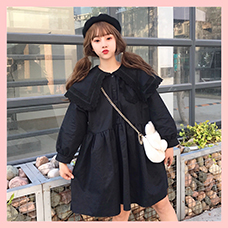 Women-Loose-Lolita-Dress-Kawaii-Lace-Patchwork-Solid-Color-Dresses-Chic-Christmas-Halloween-Party-Cute-Double