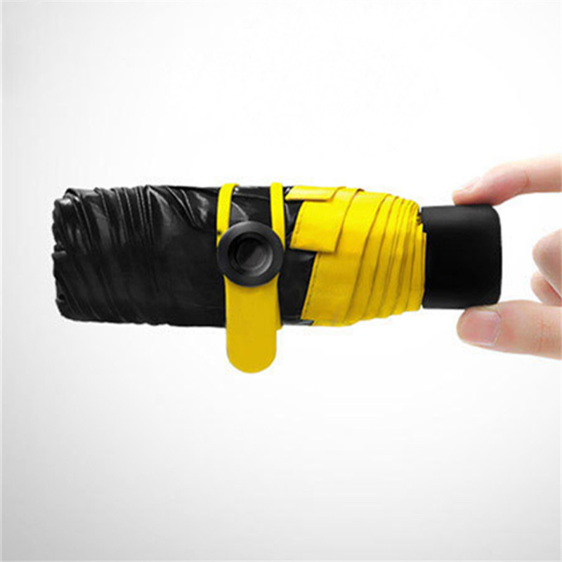 Mini Five Taschenschirm Fashion Black Sunshade Parasol Taschenschirm - Haushaltswaren - Foto 1