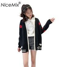 цена NiceMix 2019 Loose Plus Size Cardigan Women Poncho Sweater Casual Elegant Sweaters Coats Female Cardigans Winter Outwear