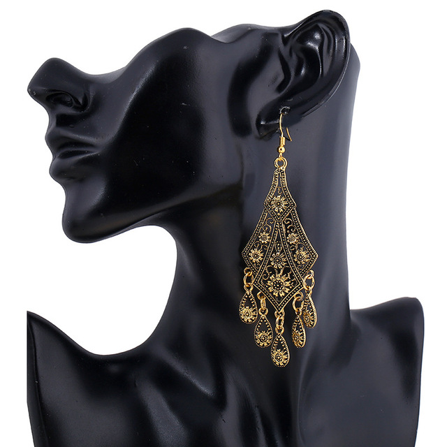 Bohemian Vintage Drop Earrings 4
