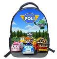 2016 Children Mini School Bags for Boys Girls 3D Cartoon Robocar Poli Schoolbag Kindergarten Baby Backpack Kids Mochila Infantil