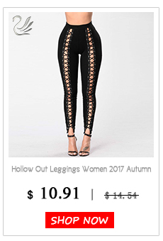 Black Hollow Out Leggings Women 2019 Autumn Winter Full Length Pencil Pants Sexy Fitness Lace Up Bodycon Legging 19