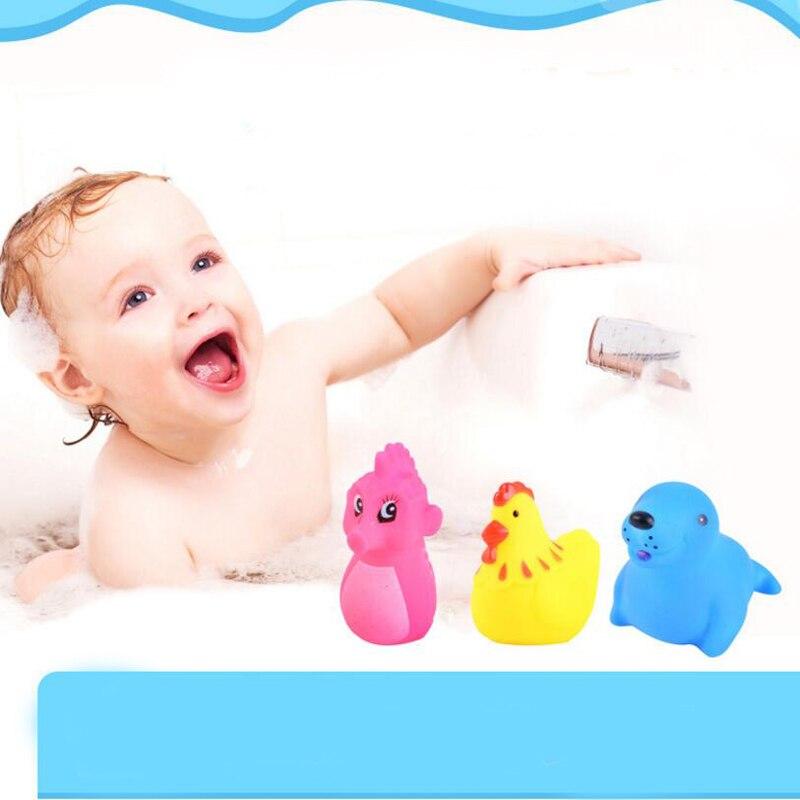 1 Set Creative Baby Doll In Bath Tub Sound Animal Doll Bath Shower ...