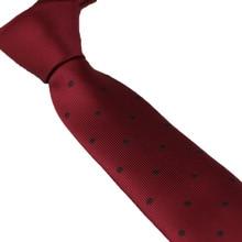 Coachella Галстуки бордовый красный Узел Контрастность бордовый с черный горошек галстук жаккарда узкий галстук 6 см