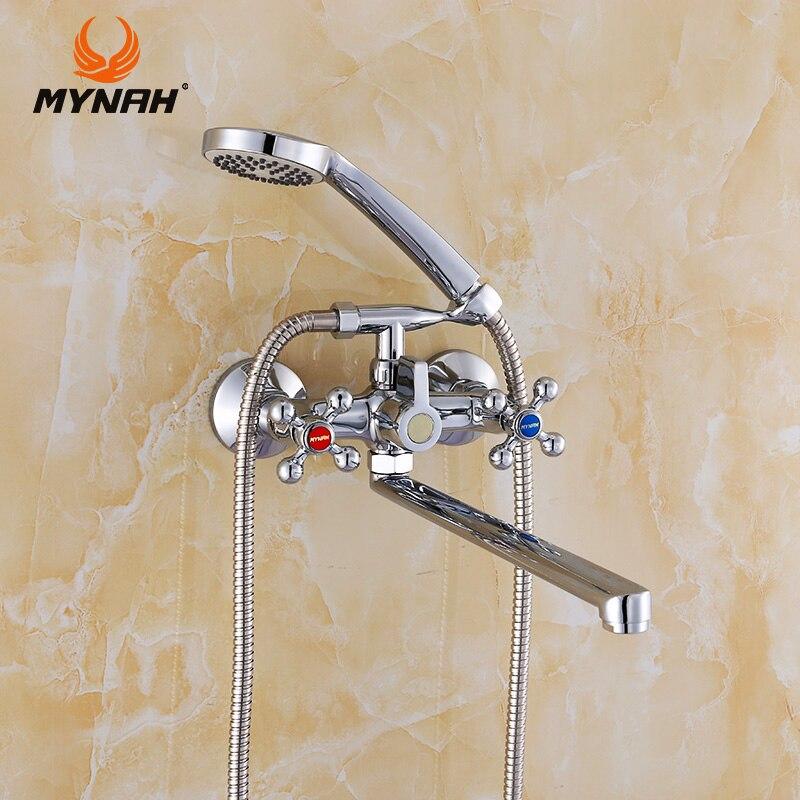MYNAH Bathroom Faucet Shower Bath Handle Holder Waterfall Bathroom Set Bathtub  Faucet Stand Mixer Bathtub Water Valve M2361 In Shower Faucets From Home ...