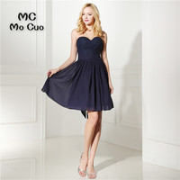 Dark Blue Homecoming Dress Cheap A Line Mini Lace Beads Cocktail Party Dress Above Knee Cheap