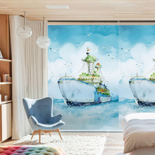 Free Custom Stained Static Cling Window Film Frosted Opaque Privacy Glass Sticker Home Decor Digital Print BLT298 Color Cruises