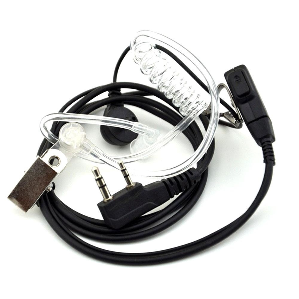 2 шт. Walkie Talkie воздуха Акустическая трубка Динамик Baofeng радио наушники 2 Pin PTT прозрачный микрофон гарнитуры K Порты и разъёмы UV-5R