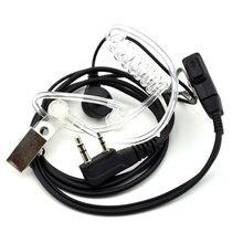 2 шт. наушники для рации воздушная акустика Трубка наушник Baofeng Радио 2 Pin PTT прозрачная гарнитура микрофон K порт UV-5R