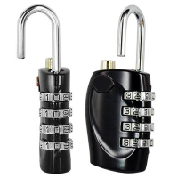 Wholesale10pcs 2 X Multicolor 4 Dial Combination Padlock Luggage Travel Lock