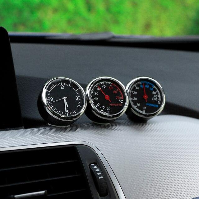 Mini Car Automobile Digital Clock Auto Watch Automotive Thermometer Hygrometer Decoration Ornament Clock In Car Accessories 3