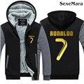 New Arrive Men Sweatshirt Jacket CR7 Cristiano Ronaldo Hoodies Coat Thicken Zipper Fleece Coat Men Casual Hooded Coat