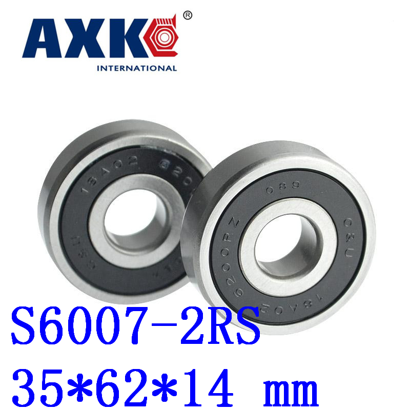 Thrust Bearing 2pcs Free Shipping Sus440c Environmental Corrosion Resistant Bearings (rubber Seal Cover) S6007-2rs 35*62*14 Mm high quality sus440c environmental corrosion resistant stainless steel deep groove ball bearings s6210zz 50 90 20 mm