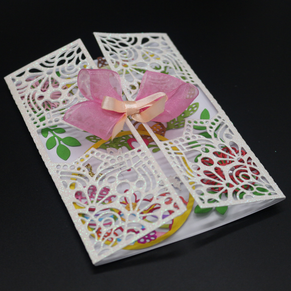 Gowing Invitation Card Decor Flowers Cutting Dies Stencil For Diy