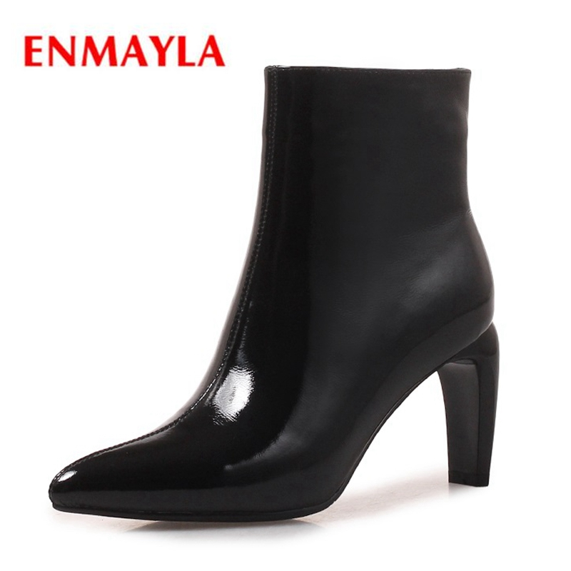 ENMAYLA Pointed Toe  Thin Heels  Basic  Zip Ankle Boots Winter Boots Women Botas Mujer Ankle Boots for Women  Size 34-40 ZYL1494ENMAYLA Pointed Toe  Thin Heels  Basic  Zip Ankle Boots Winter Boots Women Botas Mujer Ankle Boots for Women  Size 34-40 ZYL1494