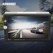 Konnwei 2 din radio de coche reproductor mp5 7 pulgadas hd de pantalla táctil digital con estéreo teléfono radio fm/mp3/mp4/audio/video/usb automático en el tablero