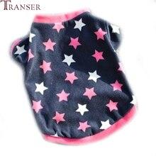 """Transer Одежда для собак, принт со звездой, круглый вырез, короткий рукав, футболка """"Щенок"""", Осень-зима, пальто для собак 71101"""