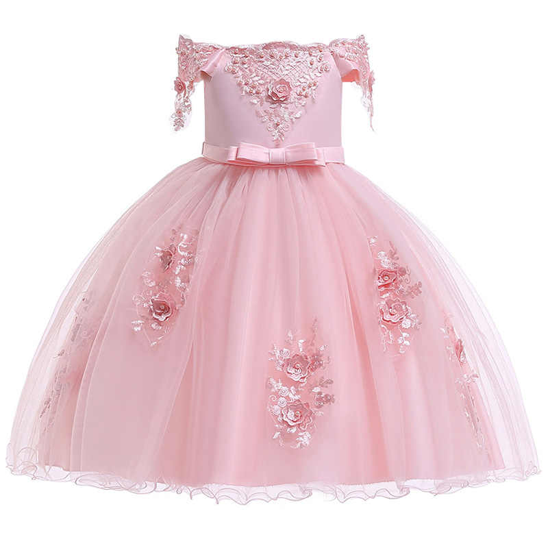 d204547acfc Summer Flower Lace Girls Wedding Pageant Party Dresses Princess Formal Prom  Gowns Size 3-14