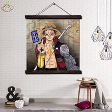 Современная Настенная картина из аниме one piece Постер и изображение