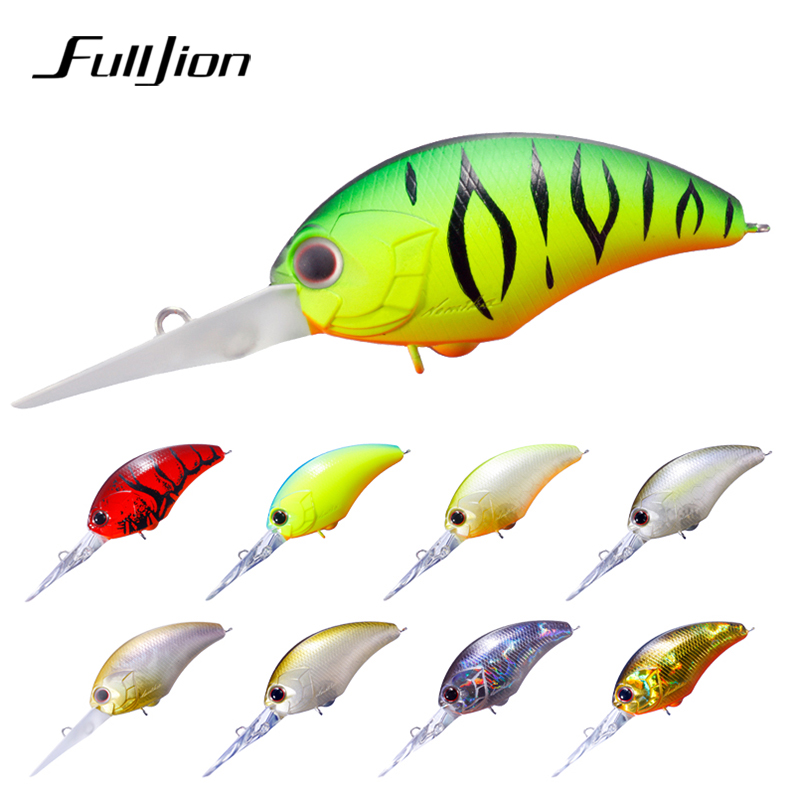 Fulljion Floating Crank Fishing Lures  Wobblers Crankbait for Carp Fishing Artificial Baits Bass Isca Pesca 9pcs lifelike plastic hard crank floating wobblers double fishing hook artificial fishing lures baits crankbait 1 8 4g pesca