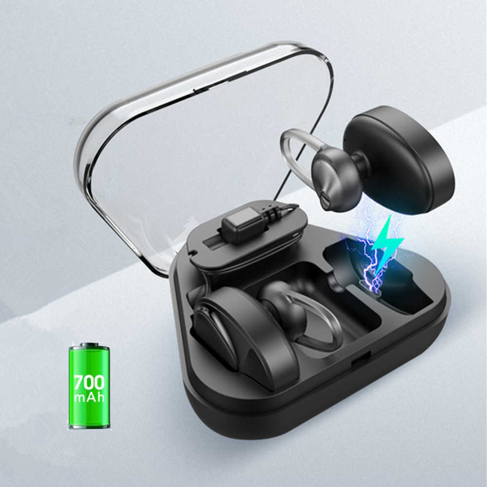 9a2e3f81d73 BL02 Mini Wireless Bluetooth 4.2 Stereo Earphones Sport Headsets With  700mAh Charger box Mic Earbuds Earpieces