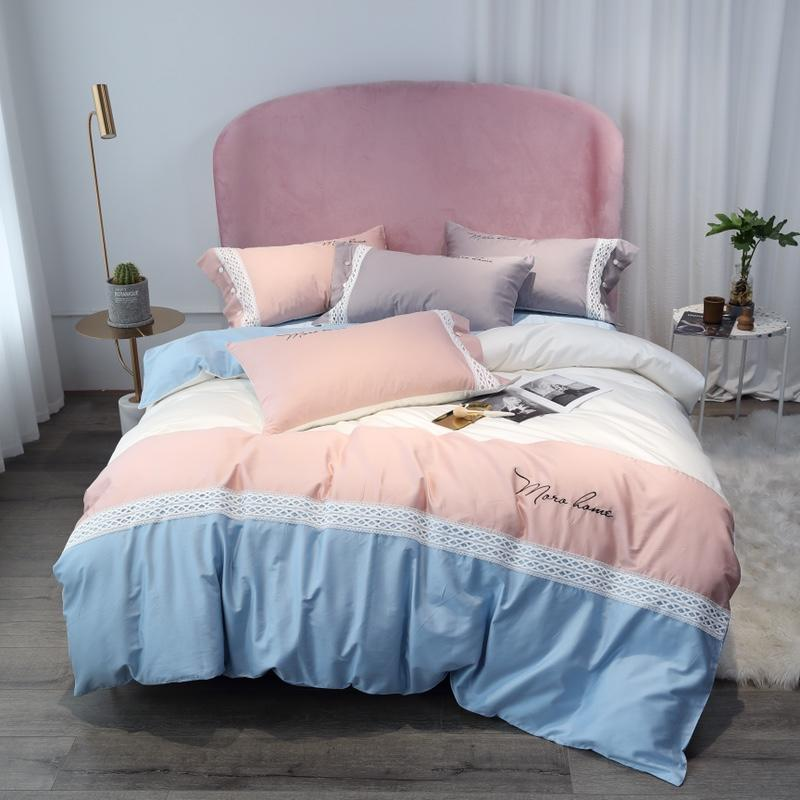 Luxury Egypt Cotton Classic stitching Bedding Set Hollow Lace Duvet Cover Sets Bed Sheet Pillowcases Queen King Size 4/6/7PcsLuxury Egypt Cotton Classic stitching Bedding Set Hollow Lace Duvet Cover Sets Bed Sheet Pillowcases Queen King Size 4/6/7Pcs