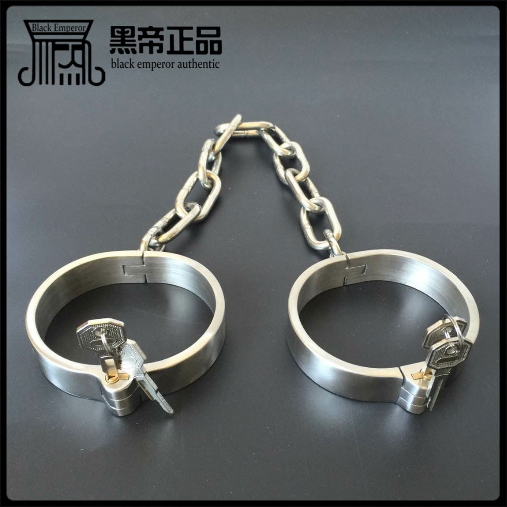 Sex toys couples device ankle cuffs heavy metal bondage sex product adult slave erotic with chastity lock Restrictions sex game.