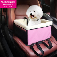 Dog Car Seat Cover Foldable Waterproof Dog Car Carriers For Small Pet Soft Warm Sherpa Cat