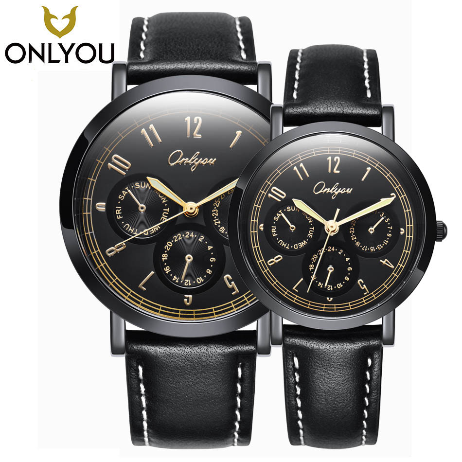 ONLYOU Lover Watches 2017 Military Sports Time Display WristWatches Women Ladies Fashion Trend Waterproof Quartz Bracelet Watch onlyou brand luxury fashion watches women men quartz watch high quality stainless steel wristwatches ladies dress watch 8892