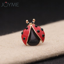 Luxury Red Enamel Pin Badge Lapel Ladybug Insect Brooch Beetle Cartoon Pin Tie Collar Shirt Suit Kids Lady Girls Men Jewelry(China)