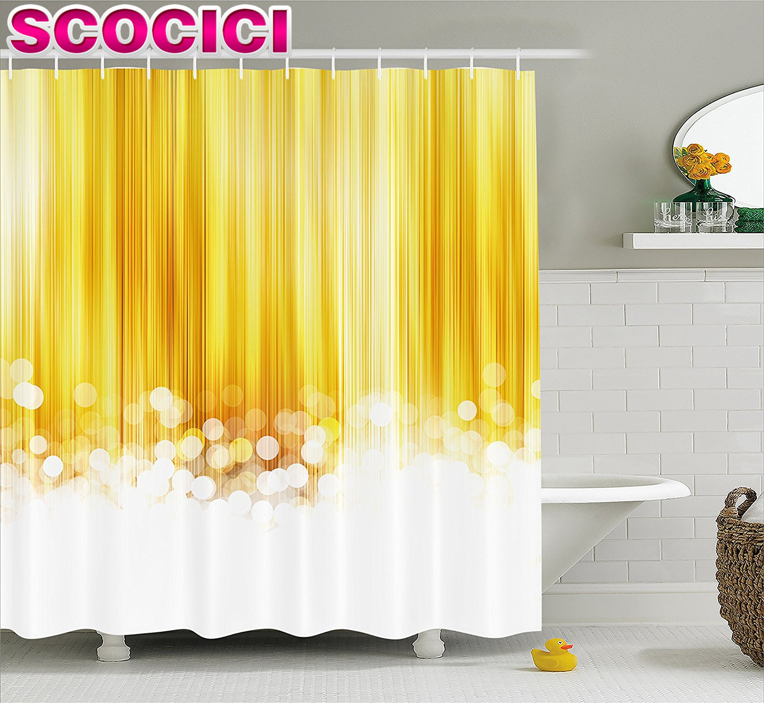 Gold And White Striped Shower Curtain Charming Ideas Gold And
