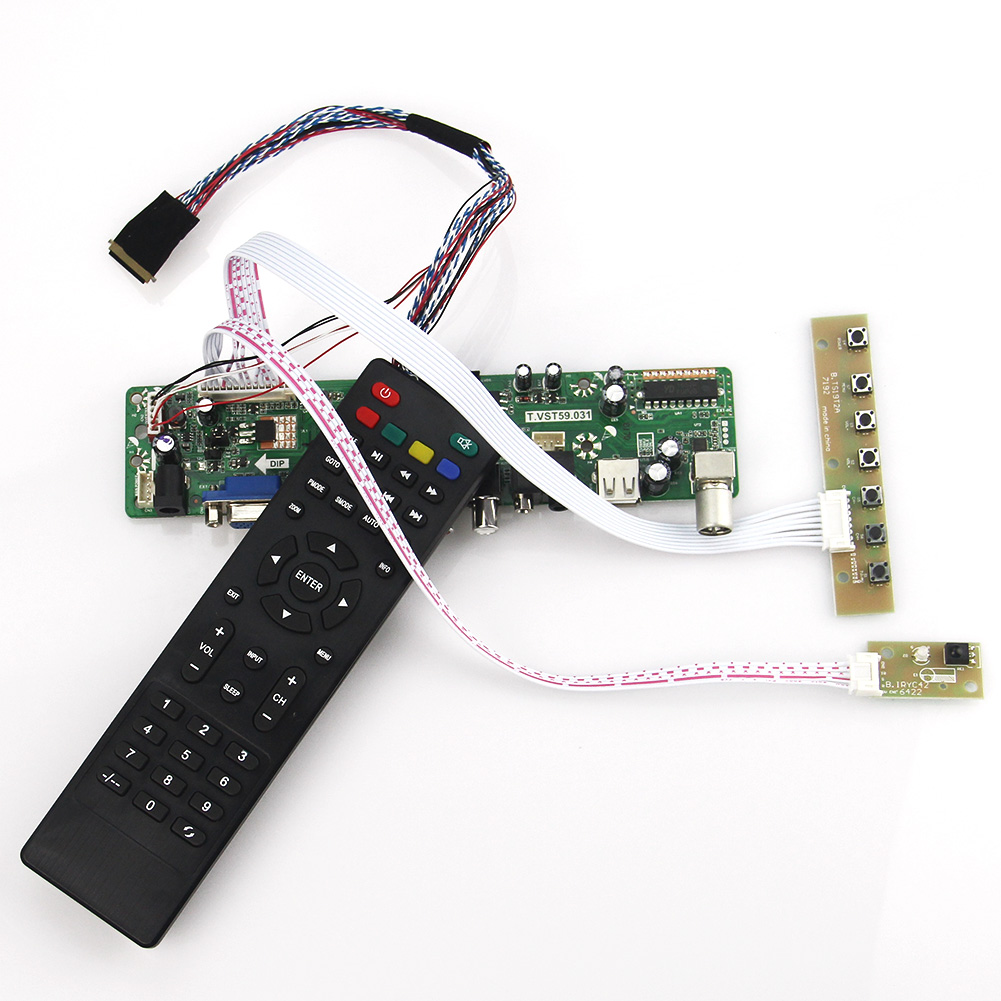 (TV+HDMI+VGA+CVBS+USB) For B173RW01 V0 LP173WD1 LTN173KT01 T.VST59.03 LCD/LED Controller Driver Board LVDS Reuse Laptop 1600x900