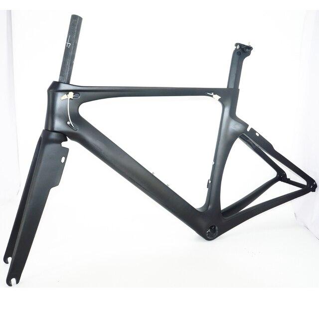 Full Carbon Fiber Aero Bike Frame Direct Mount Brake Road Frame Aero ...