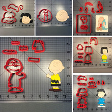Cartoon Character Charlie Brown Cookie Cutter Custom Made 3D Printed Biscuit Set Decorating Tools Cake