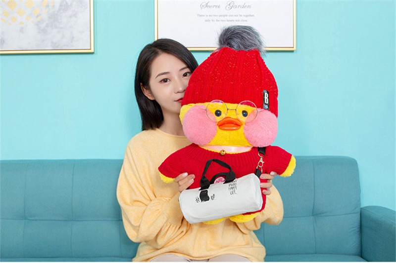 50cm Big Size Lalafanfan Plush Stuffed Toys Kawaii Cafe Mimi Yellow Duck Plush Toys Girls Lovely Decoration Toys For Children 1