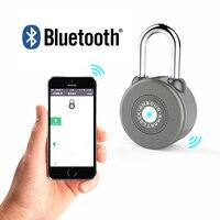 2019 Cadeado Fechadura Wireless Padlock Bluetooth Smart Lock Keyless Remote Control Locker Metal Design App For Android/ios