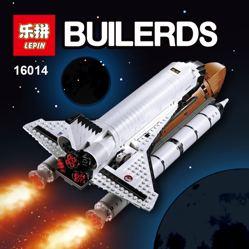 LEPIN 16014 1230Pcs Space Shuttle Expedition Model Building Kits Set Blocks Bricks Children Toy Compatible legoed 10231 lepin 16014 1230pcs space shuttle expedition model building kits set blocks bricks compatible with lego gift kid children toy